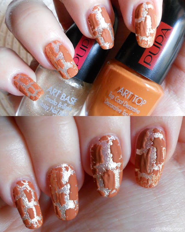 PUPA NAIL ART KIT vanilla - safari orange