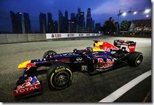 Vettel nelle prove libere del gran premio di Singapore 2012