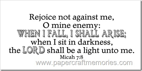 Micah 7:8 WORDart by Karen