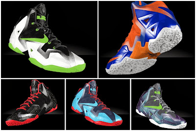 nike lebron 10 id options preview 0 01 Preview LeBron XI iD... Galaxy, Glow in the Dark, and Much More!