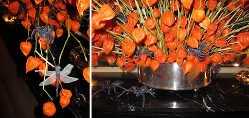 More creepy crawlers lurking in the Chinese Lantern arrangement.