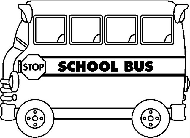 Dibujos autobus del colegio for School bus coloring page