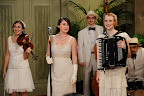 Here, the band, Carte Blanche. Don't you just love their flapper costumes?