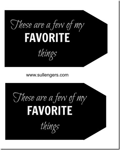 Favorite Things Gift Tag