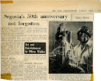 Segovia's 50th anniversary not forgotten