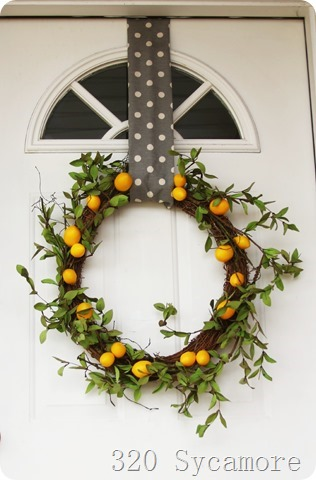 simple lemon wreath -- 320 sycamore
