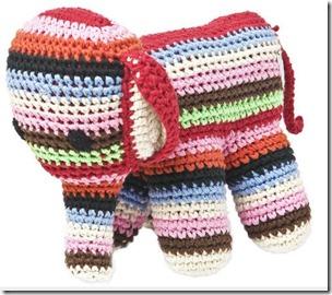 Doudou au crochet Eléphant
