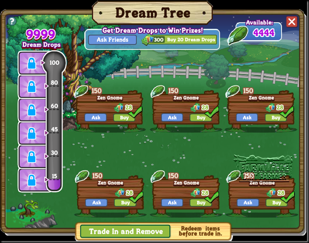 FarmVille Dream Tree Basket Look Inside
