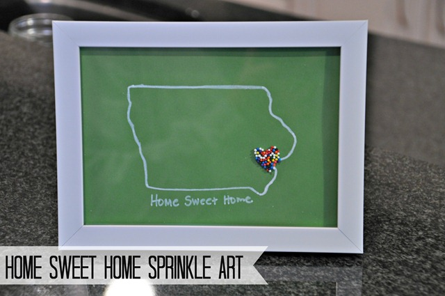Home Sweet Home Sprinkle Art