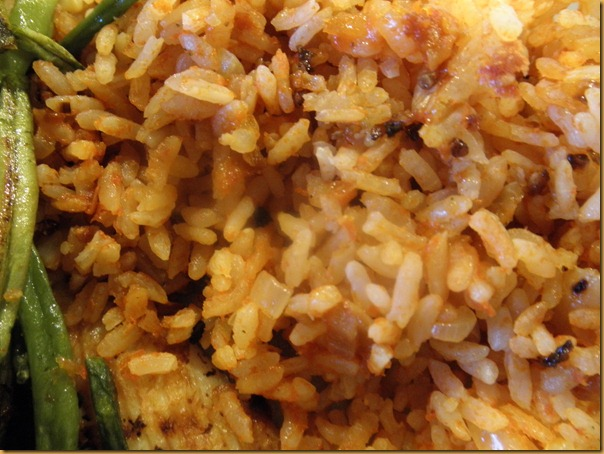 Rice and Roasted Green Beans