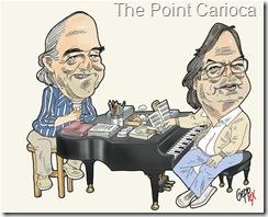 Vincius de Moraes e Tom Jobim - por Gepp ex