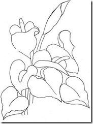 risco flor pintura em tecido 20
