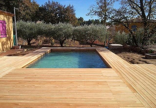 Piscine en bois sans liner best piscine bois modern pool for Piscine sans liner