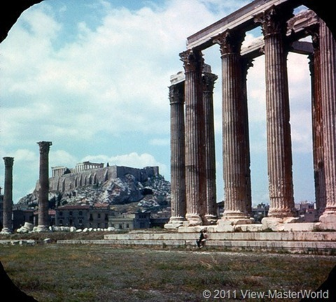 View-Master Athens (B206), Scene 8: The Acropolis and Columns of Zeus Temple