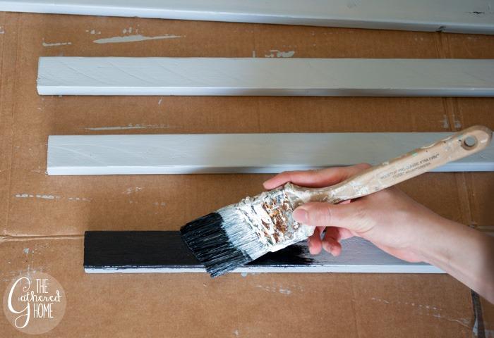 painting furring strips black