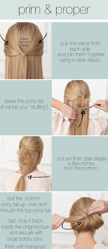 How to create reverse bun hair tutorial