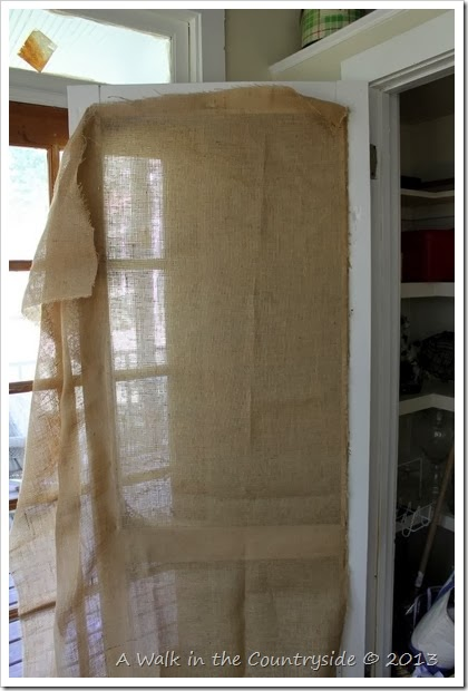 using a screen door as a closet door