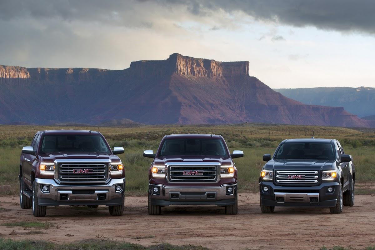 gmc three truck portfolio 2015 gmc canyon all terrain sle exte
