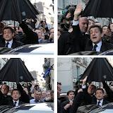 Le candidat ne sera pas venu pour rien, le Président aura enfin vérifié...le parapluie fonctionne