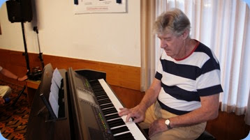 Ian Jackson played our Clavinova CVP-509 for us. Photo courtesy of Dennis Lyons.
