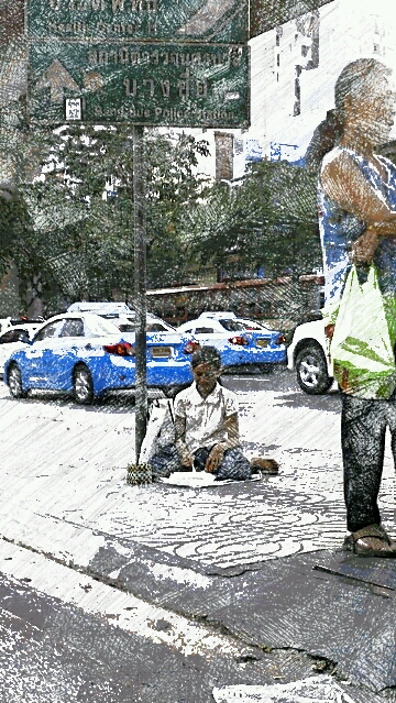 Begging in Bangkok