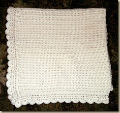 Cream scallop blanket