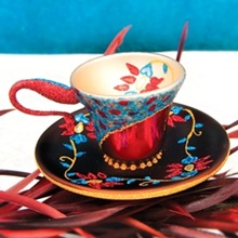 Chinoiserie teacup ornament