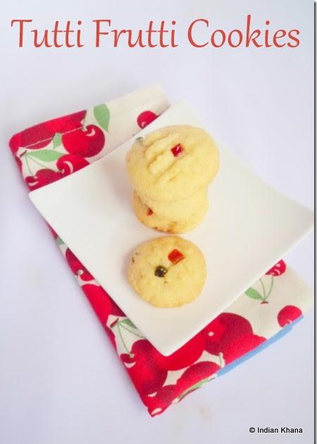 Eggless Tutti Frutti Cookies Icebox Cookies Recipe