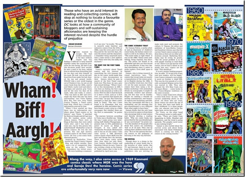 Deccan Chronicle Chennai Chronicle Cover Story on Comics Dated 05th October 2013 story