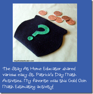 St. Patrick Day Homeschool Math Activity Preschool