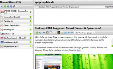 Google Reader for Desktop