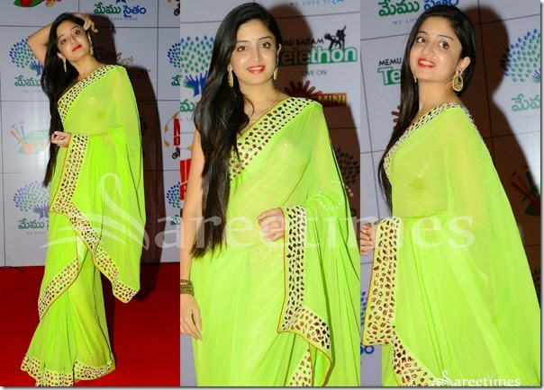 Ponam_Kaur_Green_Georgette_Saree