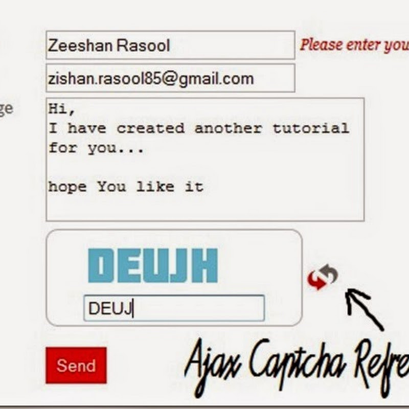 Ajax Stylish Captcha and Contact Form using JQuery and PHP.