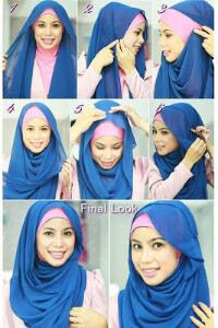 Jilbab cantik Simple untuk Sehari-hari- How to Wear Hijab For Everyday