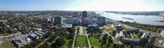 Baton Rouge panorama from the top of the state capitol building.