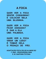 A foca - Vinicius de Moraes