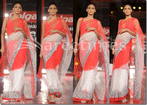 Manish_Malhotra_White_and_Red_Net_Saree