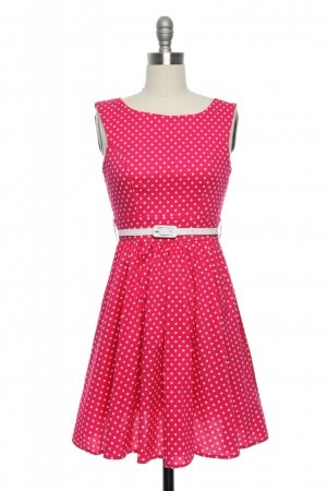 pretty as a picture polka dot dress via lace affair