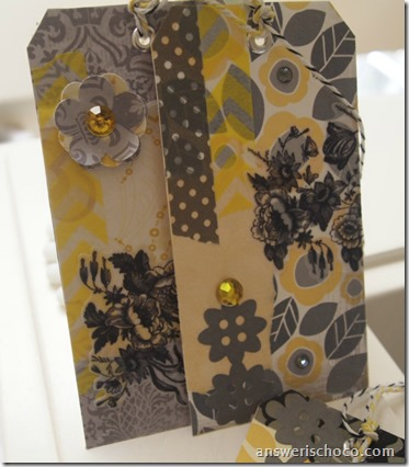 Scrap Tags Yellows and Grays