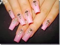 super uñas hermosas en rosa