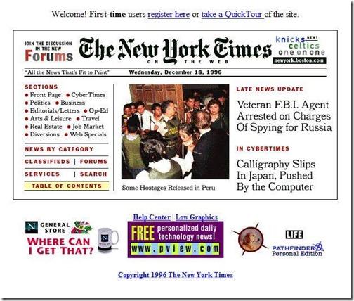 New york times diciembre 1996