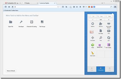 Firefoxin käyttöliittymän muokkaus on muuttunut täysin