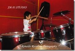 Violino Ridho Putra Belajar Drum di JM 83 Studio 4
