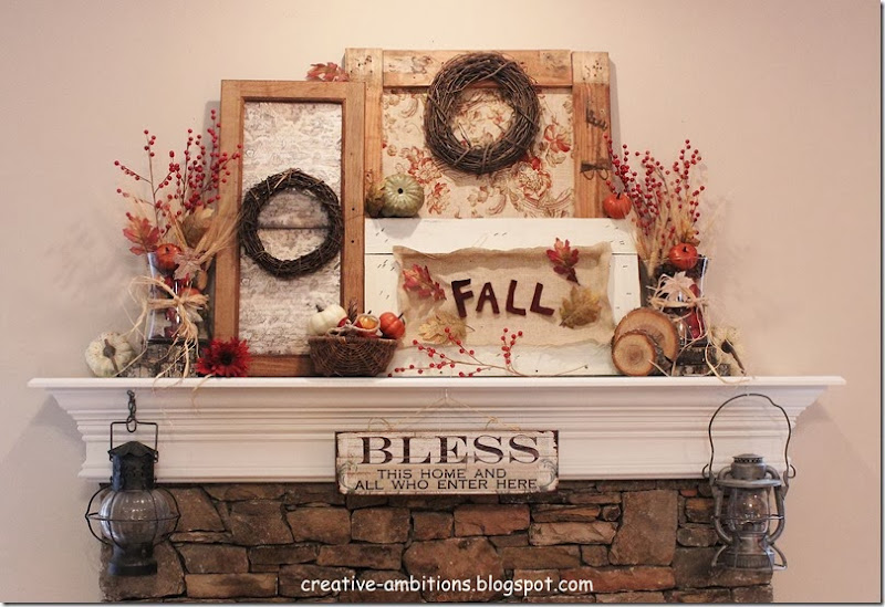 Creative Ambitions Fall Mantel 2013