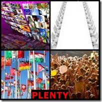 PLENTY- 4 Pics 1 Word Answers 3 Letters