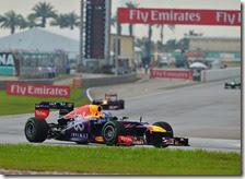 Vettel nel gran premio della Malesia 2013
