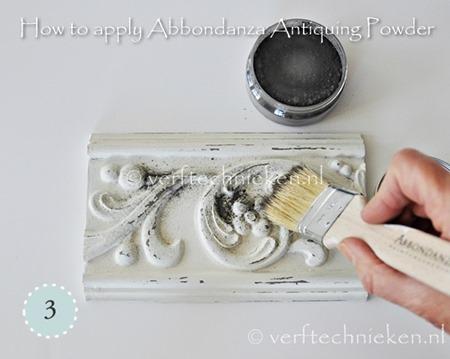 Abbondanza Antiquing Powder - stap 3