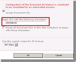 How to configuration the Unique Document ID Service to make it Immediatly effect in Sharepoint 2010