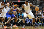lebron james nba 121206 mia vs nyk 04 LeBron James Nears 2nd Triple Double, Wears Lavas in a Loss