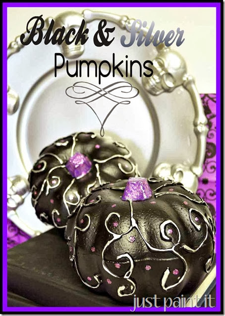 Black & Silver Foam Pumpkins